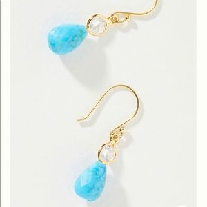 NWT ANTHROPOLOGIE turquoise drop earrings